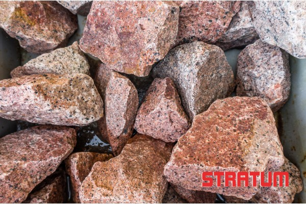 Raudona granito skalda 5-20 mm