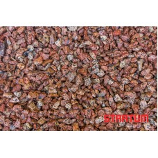 Raudona granito skalda 8-11 mm