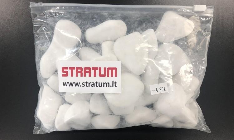 Balti dekoratyviniai akmenukai 20-60 mm (1,7 kg)