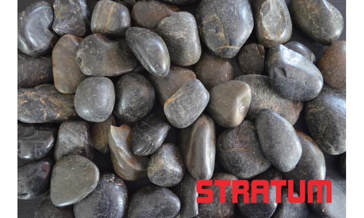 Juodi poliruoti akmenukai 20-40 mm (800 kg)