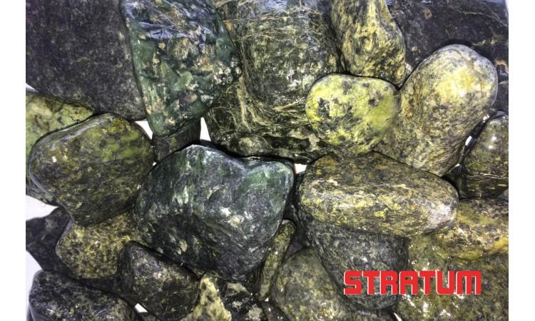 Žali dekoratyviniai akmenys (1 tona)