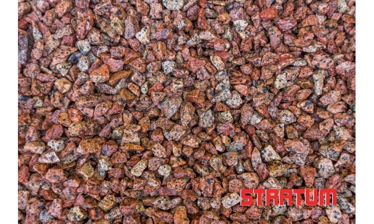 Raudona granito skalda 8-11 mm (1,7 kg)