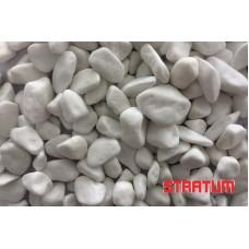 Balti dekoratyviniai akmenukai 10-40 mm