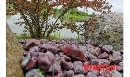 Margi (raudoni-balti) akmenukai 20-40 mm (20 kg)